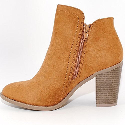 Fashion Women's Booties Chestnut TRENDSup Suede Collection PZwEvqT