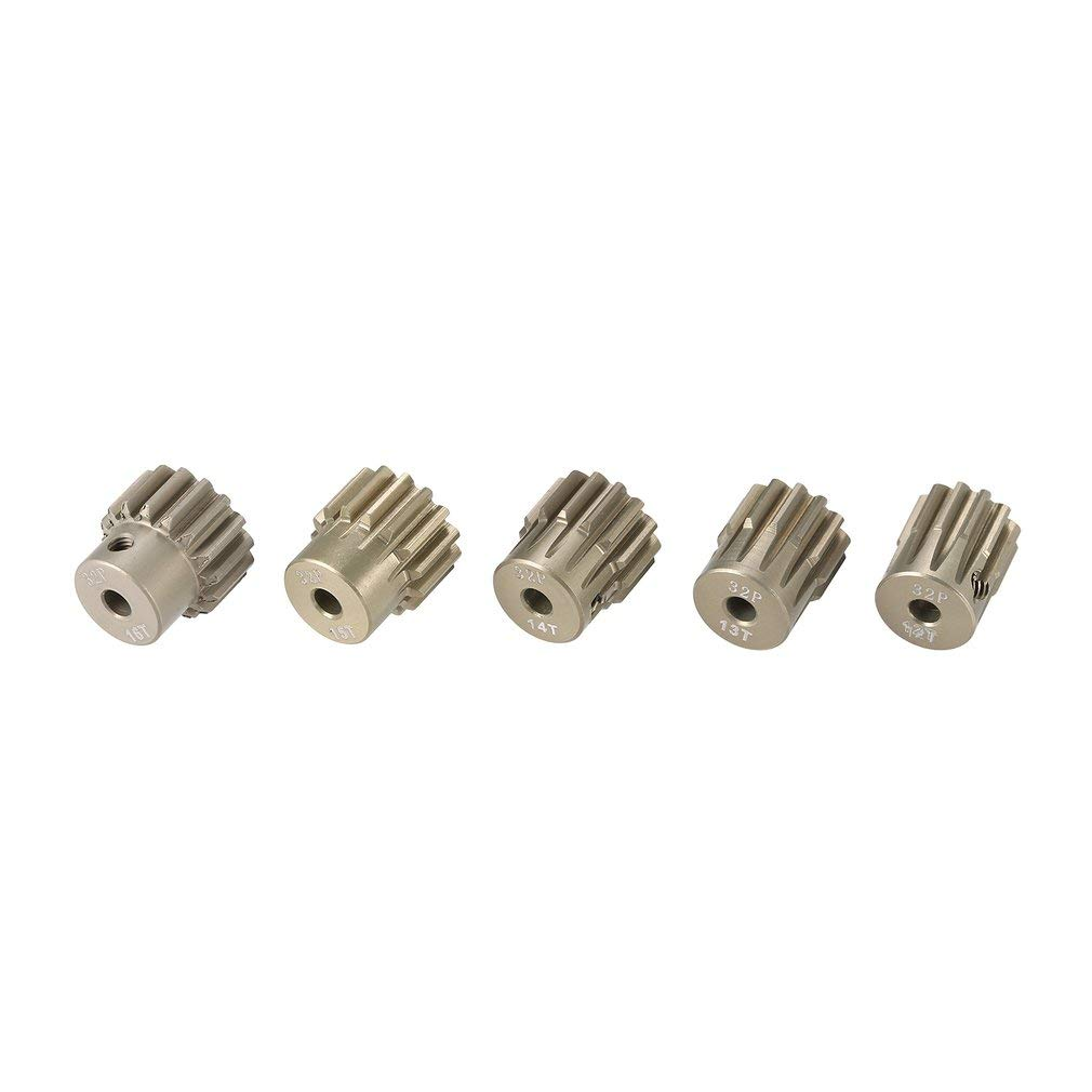 leoboone Surpass Hobby 5Pcs 32DP 3.175mm 12T 13T 14T 15T 16T Metal Pinion Motor Gear Set for 1//10 RC Car Truck Brushed Brushless Motor