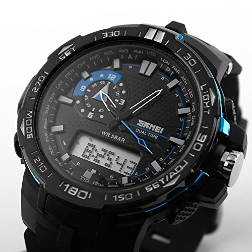 Amazon.com: Relojes de Hombre Sport LED Digital Military Water Resistant Watch Digital Men De Hombre Para Caballero RE0020: SkmeiWatchCo: Watches