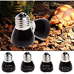 Viet-GT Habitat Lighting - Far Infrared Ceramic Emitter Heating Light Lamp for Reptile Back Reptiles Amphibians Habitat Lighting 2017 1 PCs