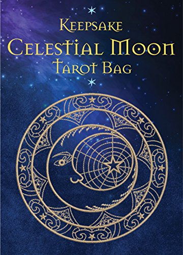 Celestial Moon Tarot Bag: Luxury Velvet Drawstring Tarot or Oracle ()