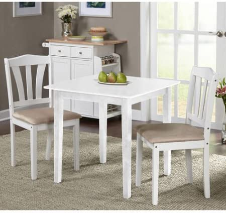 Metropolitan 3 Piece Dining Set (White)