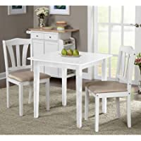Metropolitan 3 Piece Dining Set (White)