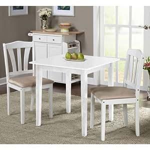 Metropolitan 3 piece dining set white for Naaptol kitchen set 70 pieces