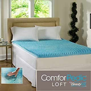 Beautyrest 3-inch Sculpted Gel Memory Foam Mattress Topper-Cal King.This Mattress Toppers Is a Gel Memory Foam Mattress Toppers. You Should Use This with Your Beddings and on Your Mattresses.it Is Not a Mattress Cover,foam Mattresses or Memory Foam. by Bea