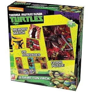 Teenage Mutant Ninja Turtles 3 in 1 Activity Game Box - TMNT Puzzle, Floor Dominoes, Memory Match (Ninja Board Game Card compare prices)