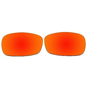 acompatible lentes de repuesto para Oakley Crosshair 2.0 gafas de sol OO4044, Fire Red Mirror