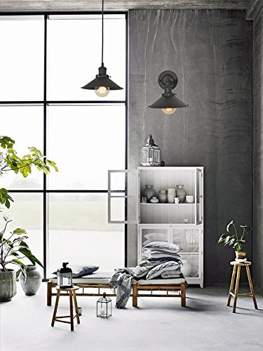 XIDING Premium Retro Industrial Edison Simplicity Metal Wall Sconce Light Fixture,Upgrade Black Finish Shade Vintage Swing Arm Wall Lamp, E26 Base, 1 Light by XIDING (Image #6)