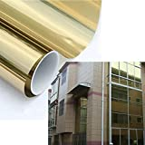 HOHO Mirror Silver Gold Solar Reflective Window Film One Way Privacy Tint for Home Office Store Glass 60''x98ft