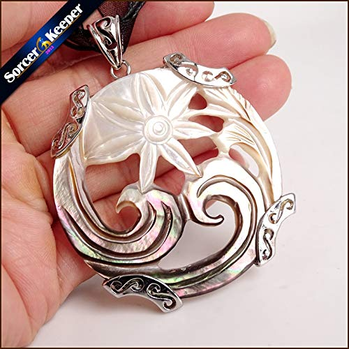 Calvas Vintage Natural Mother of Pearl Shell Pendant for sale  Delivered anywhere in Canada