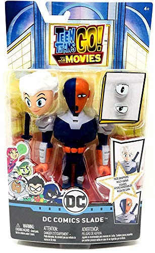 Mattel Teen Titans Go to The Movies Face-Swappers DC Comics Slade Figure Toy, Multicolor -