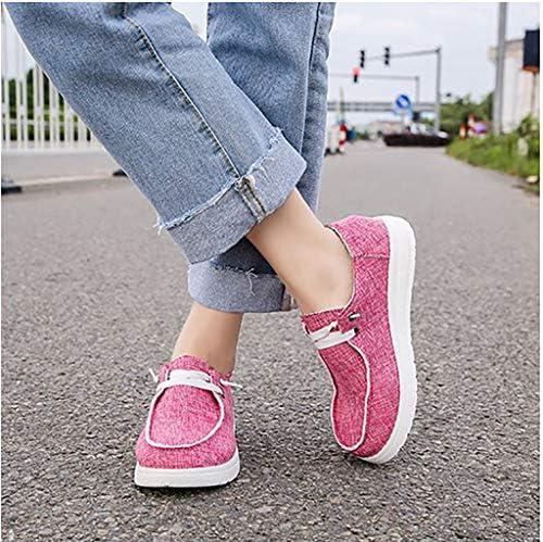 Vrouwen Oversize Sleehak Schoenen Schoenen Doek Casual Shoes Lichtgewicht Four Seasons Damesschoenen,Pink,42