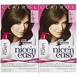 Clairol Nice 'n Easy Color Blend Foam Hair Color, 6, Light Brown, 2 pk