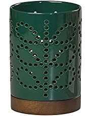 Orla Kiely Farol de cerámica en tallo lineal Evergreen, Verde, Default Title