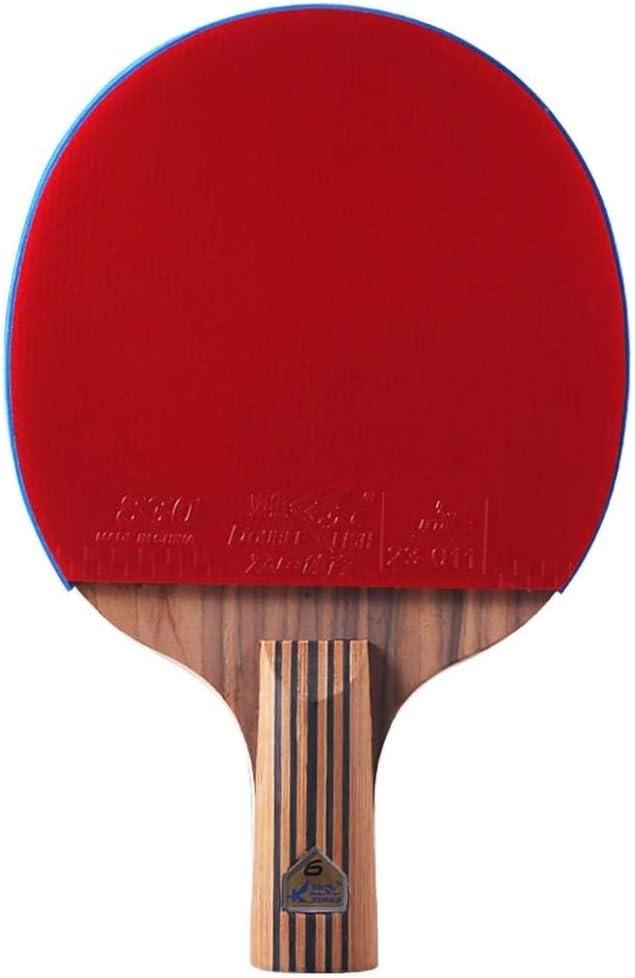 Lerten Palas De Ping Pong De Seis Estrellas,Raqueta De Ping Pong De Alta Calidad,Placa Base De Cinco Capas,Adecuada Para Jugadores Junior Y Profesionales. / Como se muestra/Mango corto
