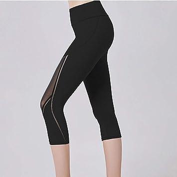 LQRR Pantalones de Yoga de Malla para Mujer Polainas ...