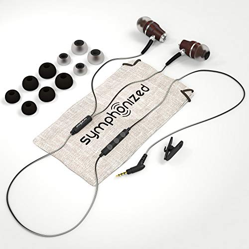 Symphonized-NRG-30-Earbuds-Headphones-Wood-In-ear-Noise-isolating-Earphones-Balanced-Bass-Driven-Sound-with-Mic-Volume-Control-Black-Night-Hazy-Gray