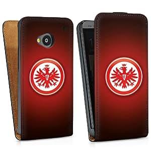 Diseño para HTC One M7 DesignTasche Downflip black - Eintracht Frankfurt