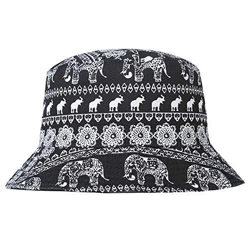 Unisex Cute Unique Print Travel Bucket Hat Summer
