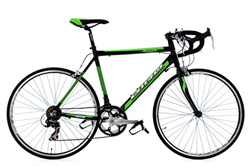 Rennrad 26'' Elite schwarz-grün Alu-Rahmen RH 53 cm