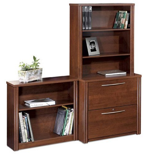 Bestar Office Furniture Embassy Collection Lateral File and Bookcase Set, Tuscany Brown (Furniture Bestar Office)