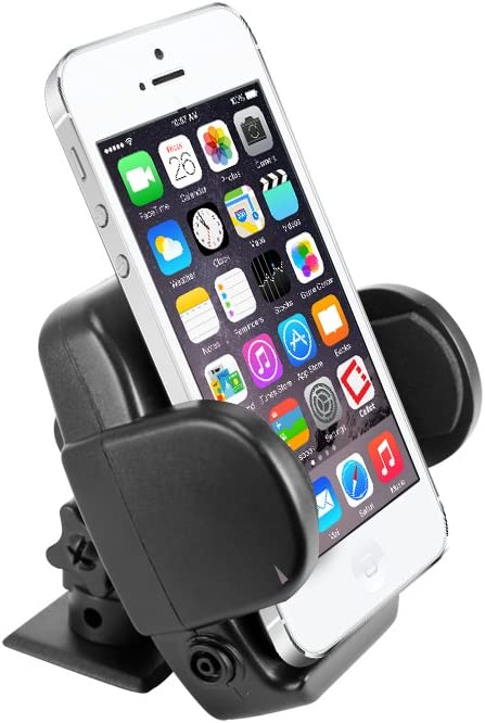 Cellet Durable Air Vent and Dashboard Car Mount Smartphone Holder Cradle Compatible with IPhone 3g 3gs 4s 4 and Any Smartphone or Android 2.5 Inch Wide Device