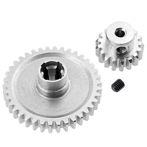 Hobbypark Metal Diff Main Gear 38T & Motor Pinion Gear 17T for RC 1/18 WLtoys A959 A949 A969 A979 Replacement of A949-24 RC Car Buggy Upgrade Parts
