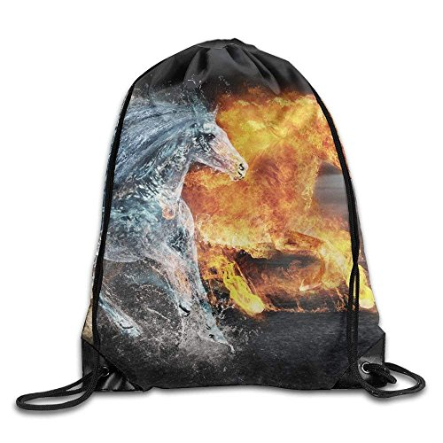 Sack Fire Horse Water Bags Gym Portable Unisex Soil Drawstring Backpack gqvOc6