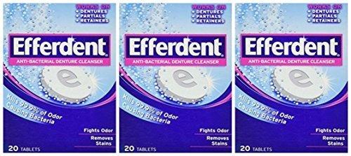 Lot of 3 Efferdent Denture Cleanser (20 (Efferdent Plus Denture Cleanser)