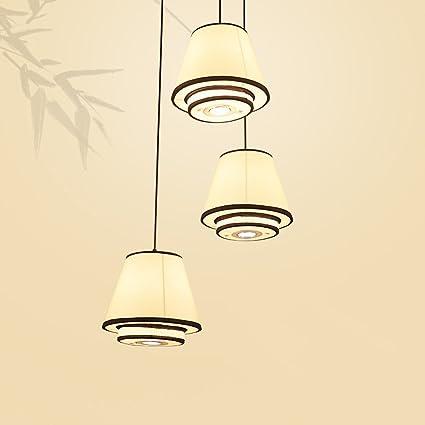 MEGSYL lámparas de Tela Hechas a Mano Chinas, lámpara de ...