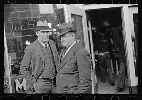 Photo: Men in front of Pool Hall,Omaha,Nebraska,NE,November 1938,John Vachon,FSA,1