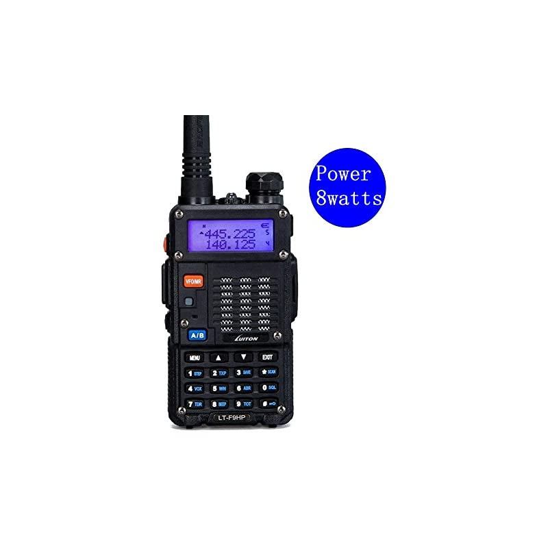 High Power Walkie Talkies 8-Watt Dual Ba