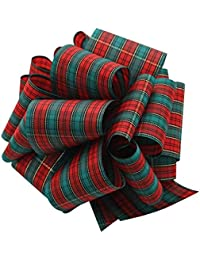 Mta-040-25-Rem Red/Emerald Tartan Ribbon