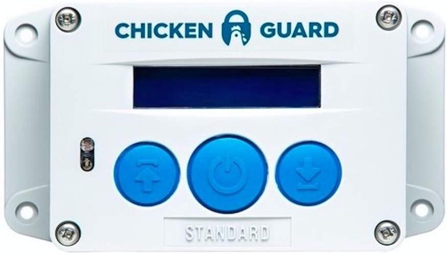 ChickenGuard ® Standard Sistema de Apertura Automática para Puerta de Gallineros
