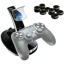 PlayStation 4 Ensemble « bon prix » avec chargeur PS4 DualShock et huit capuchons pour stick de manette