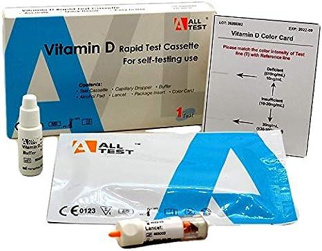Kit de prueba de vitamina D, kit de prueba de salud rápido autoprueba de vitamina D