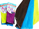 CLEANING CLOTH 3PC MICROFIBER 30X30CM OLD NO 12256 , Case of 96
