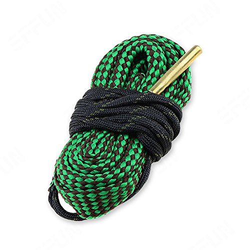Effun Bore Snake Cleaner Kit Cord Rope Brass, Bore Snake Cleaner Rifle Pistol Shotgun Gun Kit Cord Rope Brass for 5.56mm .22 .223 .25 Caliber 1 ()