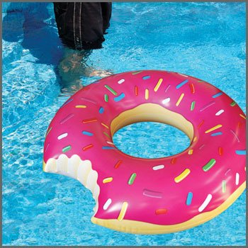 Pathos - Jumbo Donut Pool Float - Gigantic Pink Donut Inflatable - Fun for All Ages