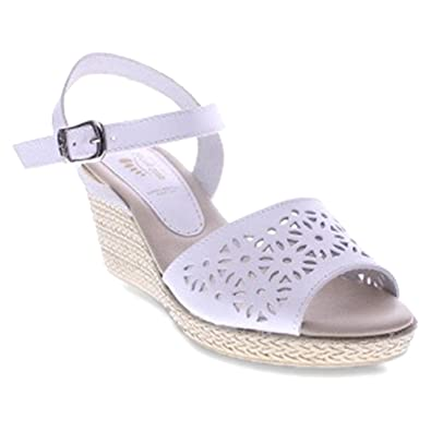 Spring Step Women s Meurice Ankle Strap Buckle Sandals White 41 M EU