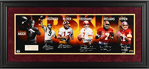 "Washington Redskins Framed Autographed Quarterback Legends 10"" x 30"" Redskins Photograph - Fanatics Authentic..."