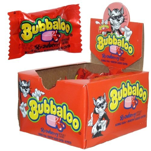 Bubbaloo Gum Strawberry (Pack of 60)