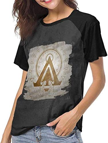 Kmehsv Amaranthe masywna damska koszulka z krÓtkim rękawem, z motywem raglan: Odzież