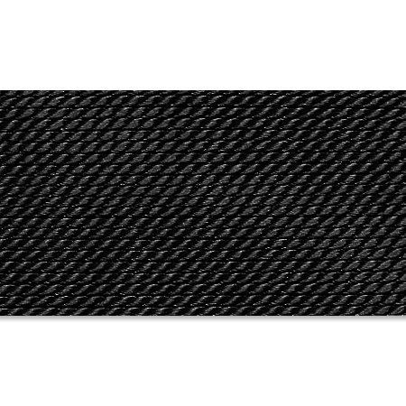- Griffin 1mm Thick Silk Cord Black - Size 10
