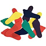 Playscene Feet Markers, Assorted Colors, (Set of 6 PAIRS)