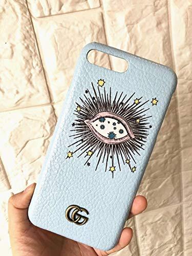 iPhone 8 Plus Case, iPhone 7 Plus Case, Elegant Luxury Classic Graphic Style PU Leather Designer Hard Protective Cover Case for iPhone 7 Plus, iPhone 8 Plus -Blue