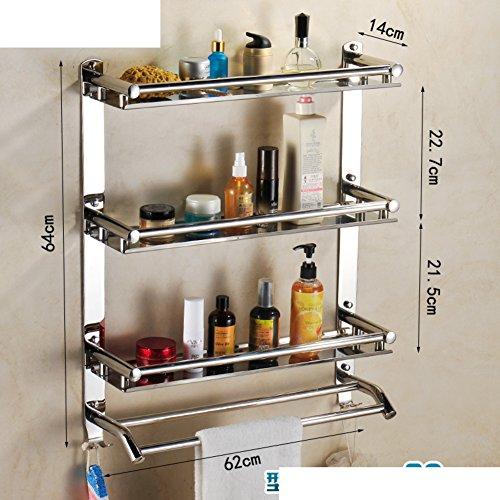 chic Stainless steel bathroom shelf / Shower room wall mount/Bath towel rack bathroom toilet-F