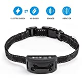 No Bark Collar [2017 New Version] Rechargeable Anti Bark Collar No Harm Shock Dog Control 7 Adjustable Sensitivity and Intensity Levels Bark Training Collar with Reflective Strap for All Sizes Dogs