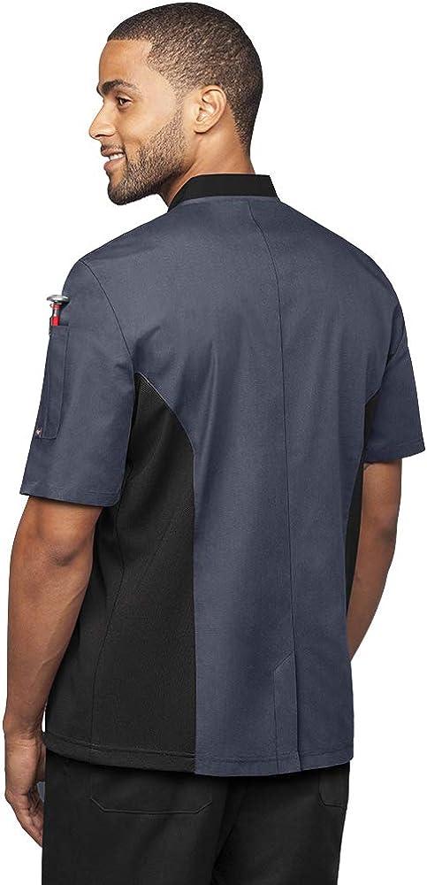 S-3X, 6 Colors Men/'s Chef Coat with Mesh Side Panels