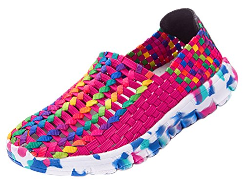 Salabobo FJQY-528 Womens Leisure Sweet Lovely Flat Woven Shoes Breathable Slip On Shoes B073QQ456Y Shoes Woven 3f8c55